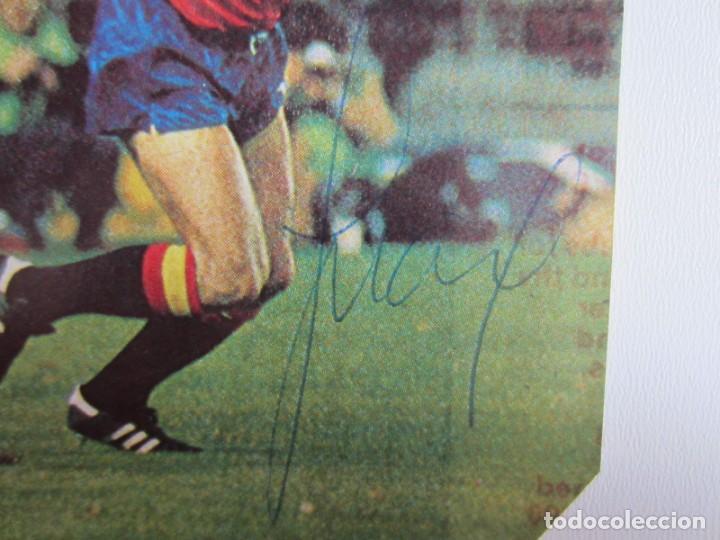 Coleccionismo deportivo: FÚTBOL.FUTBOLISTA.AUTÓGRAFO FIRMA ORIGINAL Y AUTÉNTICA DE JUANITO.REAL MADRID.SELECCIÓN ESPAÑA - Foto 2 - 155100526