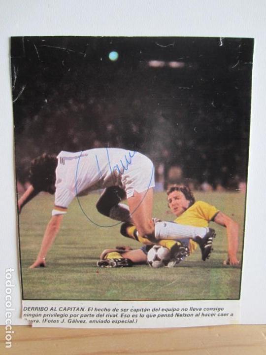 FÚTBOL.FUTBOLISTA.AUTÓGRAFO FIRMA ORIGINAL Y AUTÉNTICA DE SAURA. VALENCIA (Coleccionismo Deportivo - Documentos de Deportes - Autógrafos)