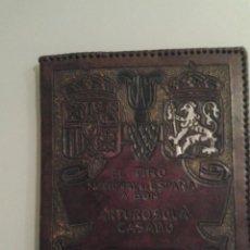 Coleccionismo deportivo: ARMAS TIRO OLÍMPICO ESPAÑOL (PISTOLA) PLATA EN ESTOCOLMO 1929 DEPORTES IMPRESIONANTE ENCUADERNACIÓN. Lote 155306190