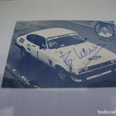 Coleccionismo deportivo: (ALB-TC-60) TARJETA TIPO POSTAL EMILIO VILLOTA CON AUTOGRAFO. Lote 155462906