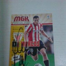 Coleccionismo deportivo: CROMO AUTOGRAFIADO DE MARCOS ATHLETIC CLUB.. Lote 155672686