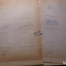 Coleccionismo deportivo: AUTOGRAFOS ORIGINALES REAL SOCIEDAD DE SAN SEBASTIAN 1980 , ALBERTO ORMAECHEA , LUIS ARCONADA , PEDR. Lote 155977510