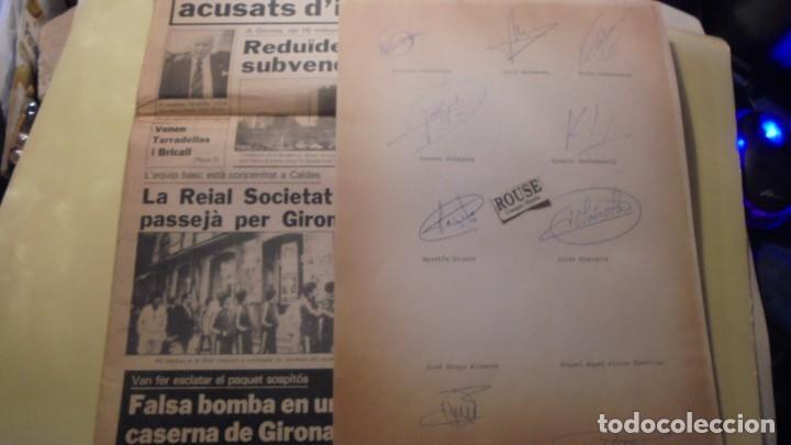 Coleccionismo deportivo: AUTOGRAFOS ORIGINALES REAL SOCIEDAD DE SAN SEBASTIAN 1980 , ALBERTO ORMAECHEA , LUIS ARCONADA , PEDR - Foto 2 - 155977510
