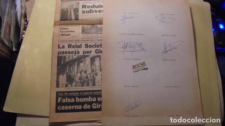 Coleccionismo deportivo: AUTOGRAFOS ORIGINALES REAL SOCIEDAD DE SAN SEBASTIAN 1980 , ALBERTO ORMAECHEA , LUIS ARCONADA , PEDR - Foto 3 - 155977510