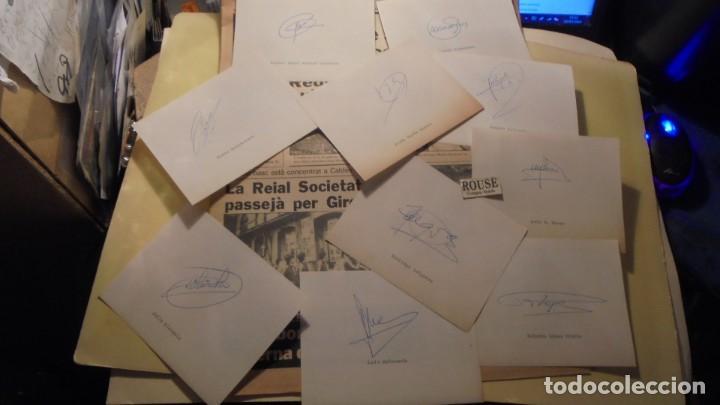 AUTOGRAFOS ORIGINALES REAL SOCIEDAD DE SAN SEBASTIAN 1980 , MIGUEL ANGEL ALONSO OYARBIDE , PEDRO OCH (Coleccionismo Deportivo - Documentos de Deportes - Autógrafos)
