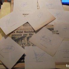Coleccionismo deportivo: AUTOGRAFOS ORIGINALES REAL SOCIEDAD DE SAN SEBASTIAN 1980 , MIGUEL ANGEL ALONSO OYARBIDE , PEDRO OCH. Lote 155978934