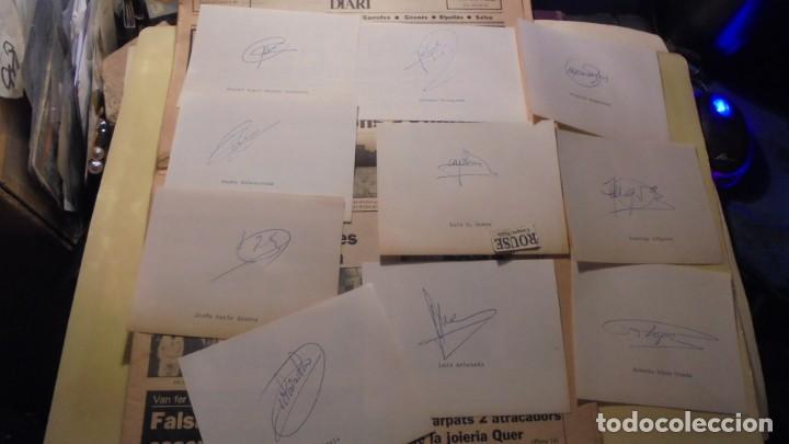 Coleccionismo deportivo: AUTOGRAFOS ORIGINALES REAL SOCIEDAD DE SAN SEBASTIAN 1980 , MIGUEL ANGEL ALONSO OYARBIDE , PEDRO OCH - Foto 2 - 155978934