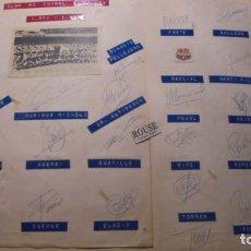 Coleccionismo deportivo: CLUB DE FUTBOL BARCELONA 1971- 1972 COLECCION DE AUTOGRAFOS A TINTA ORIGINALES DE LA PLANTILLA . Lote 156048386