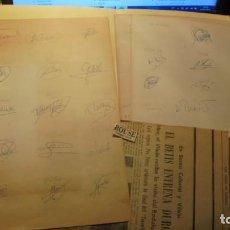 Coleccionismo deportivo: REAL BETIS BALONPIÉ AÑO 1986 COLECCION DE AUTOGRAFOS ORIGINALES A TINTA ESNAOLA , CAMPOS , PEDRO ,. Lote 156086838