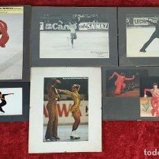 Coleccionismo deportivo: COLECCION DE 6 FOTOGRAFIAS IMPRESAS Y AUTOGRAFIADAS. PATINAJE ARTÍSTICO. SIGLO XX.. Lote 160925418