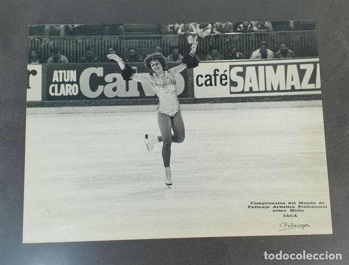 Coleccionismo deportivo: COLECCION DE 6 FOTOGRAFIAS IMPRESAS Y AUTOGRAFIADAS. PATINAJE ARTÍSTICO. SIGLO XX. - Foto 3 - 160925418