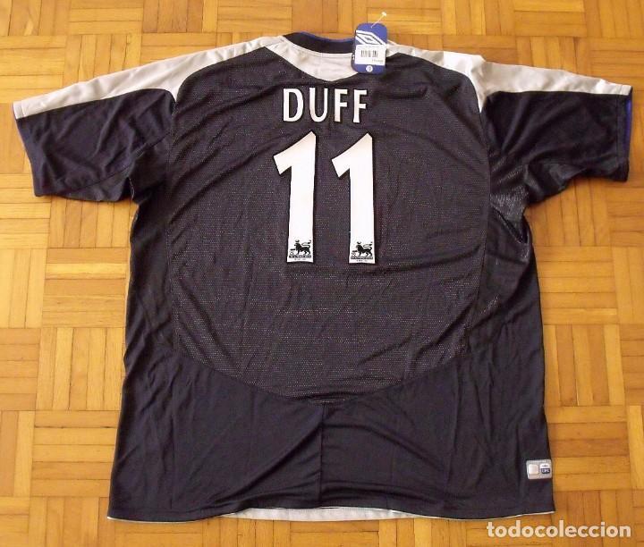 Coleccionismo deportivo: Camiseta Chelsea Duff 2004-2005 18 firmas autógrafos: Drogba Terry Lampard Robben Cole Mourinho Cech - Foto 9 - 165937694