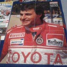 Coleccionismo deportivo: POSTER DOBLE AUTOPISTA ( FIRMADO - AUTOGRAFO DE CARLOS SAINZ ) RALLY DE PORTUGAL 1992 ORIGINAL . Lote 171455474
