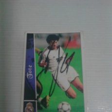 Coleccionismo deportivo: CROMO AUTOGRAFIADO TOTE REAL MADRID.. Lote 173795024