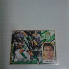 Coleccionismo deportivo: CROMO AUTOGRAFIADO ALFONSO REAL BETIS.. Lote 173796964