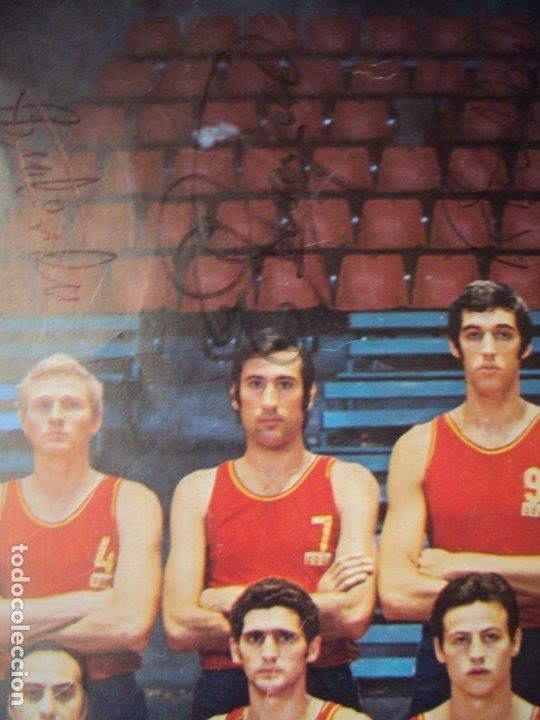 Coleccionismo deportivo: (F-190907)CARTEL CON AUTOGRAFOS ORIGINALES SELECCION ESPAÑOLA DE BASKET AÑOS 80-BUSCATO,CORBALAN,ETC - Foto 4 - 175655840