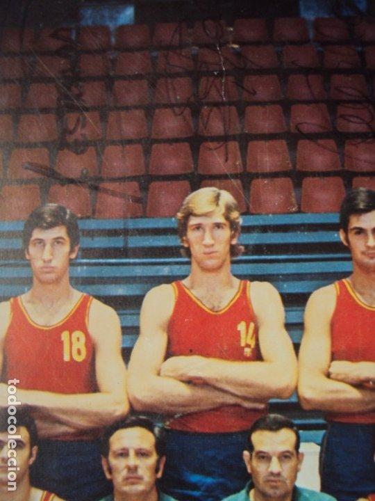Coleccionismo deportivo: (F-190907)CARTEL CON AUTOGRAFOS ORIGINALES SELECCION ESPAÑOLA DE BASKET AÑOS 80-BUSCATO,CORBALAN,ETC - Foto 7 - 175655840