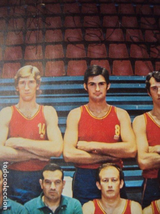 Coleccionismo deportivo: (F-190907)CARTEL CON AUTOGRAFOS ORIGINALES SELECCION ESPAÑOLA DE BASKET AÑOS 80-BUSCATO,CORBALAN,ETC - Foto 8 - 175655840