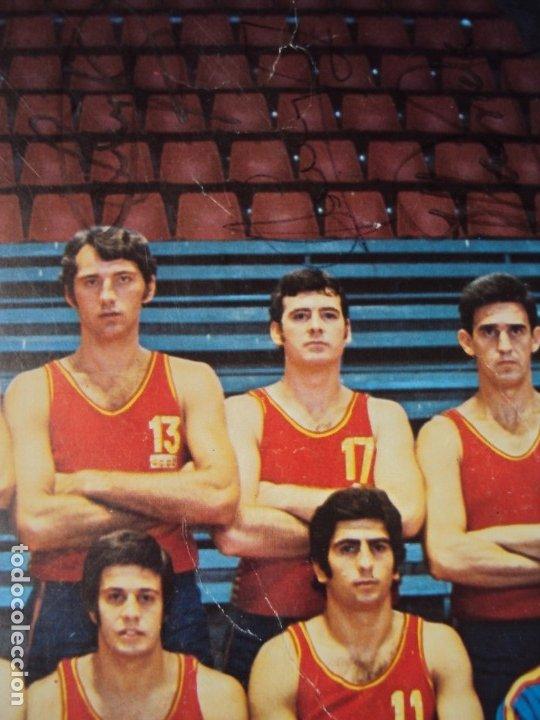 Coleccionismo deportivo: (F-190907)CARTEL CON AUTOGRAFOS ORIGINALES SELECCION ESPAÑOLA DE BASKET AÑOS 80-BUSCATO,CORBALAN,ETC - Foto 10 - 175655840
