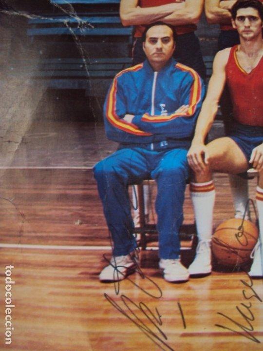 Coleccionismo deportivo: (F-190907)CARTEL CON AUTOGRAFOS ORIGINALES SELECCION ESPAÑOLA DE BASKET AÑOS 80-BUSCATO,CORBALAN,ETC - Foto 12 - 175655840