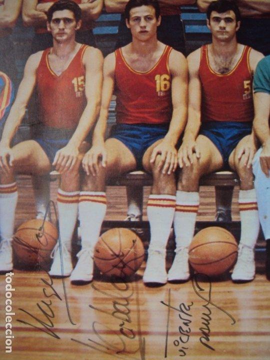 Coleccionismo deportivo: (F-190907)CARTEL CON AUTOGRAFOS ORIGINALES SELECCION ESPAÑOLA DE BASKET AÑOS 80-BUSCATO,CORBALAN,ETC - Foto 14 - 175655840