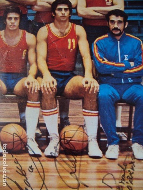 Coleccionismo deportivo: (F-190907)CARTEL CON AUTOGRAFOS ORIGINALES SELECCION ESPAÑOLA DE BASKET AÑOS 80-BUSCATO,CORBALAN,ETC - Foto 19 - 175655840