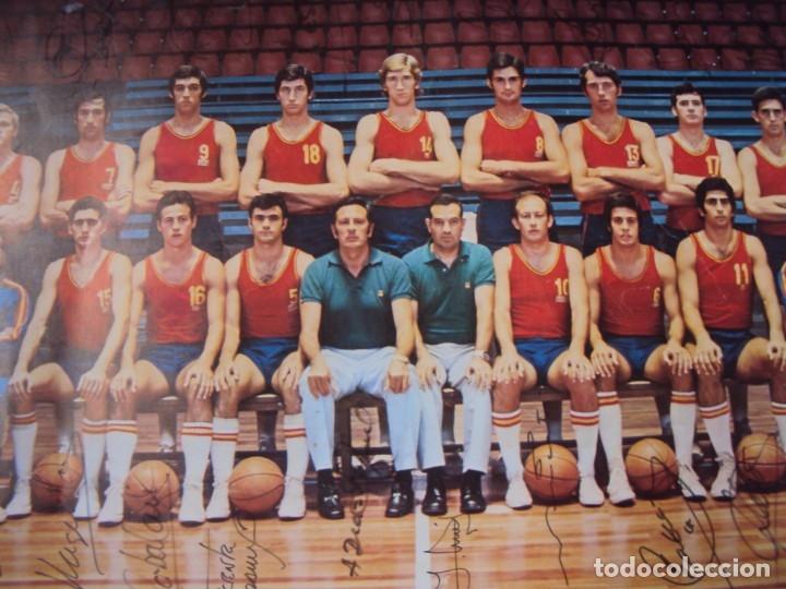 Coleccionismo deportivo: (F-190907)CARTEL CON AUTOGRAFOS ORIGINALES SELECCION ESPAÑOLA DE BASKET AÑOS 80-BUSCATO,CORBALAN,ETC - Foto 20 - 175655840