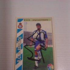 Coleccionismo deportivo: CROMO AUTOGRAFIADO POCHETTINO R.C.D. ESPANYOL.. Lote 178577367