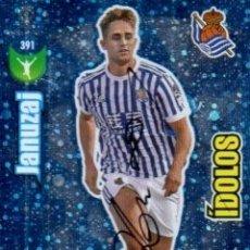 Coleccionismo deportivo: CROMO FIRMADO - AUTOGRAFO FUTBOL - JANUZAJ - REAL SOCIEDAD. Lote 183302757