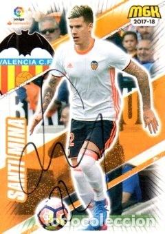 CROMO FIRMADO - AUTOGRAFO FUTBOL - SANTI MINIA - VALENCIA (Coleccionismo Deportivo - Documentos de Deportes - Autógrafos)