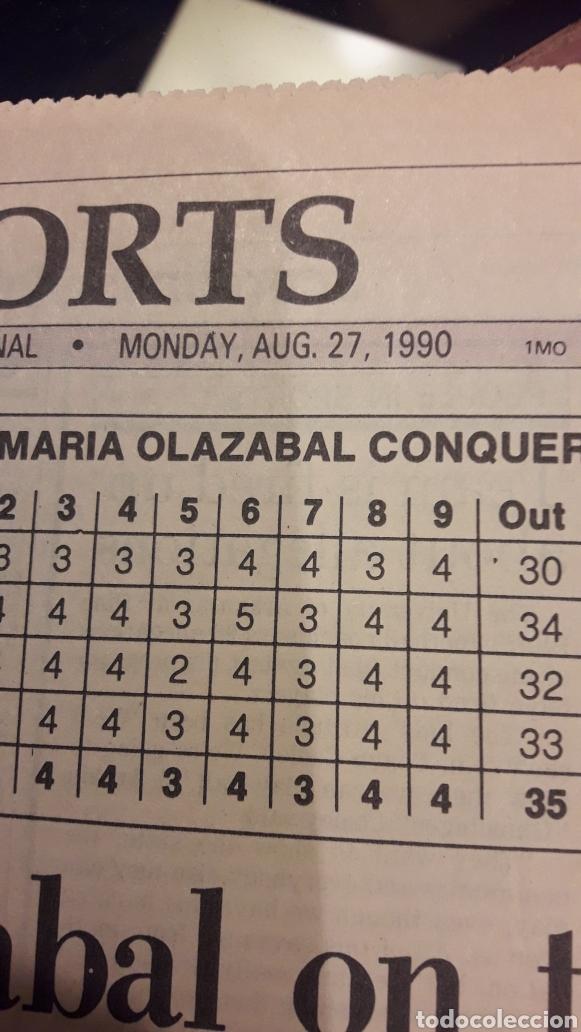 Coleccionismo deportivo: PERIODICO 1990 FIRMADO POR JOSE MARÍA OLAZABAL - Foto 3 - 183601923