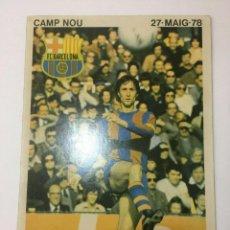 Coleccionismo deportivo: JOHAN CRUYFF AUTOGRAFO 100% ORIGINAL EN CARTEL HOMENAJE 24/5/1978. Lote 184015451