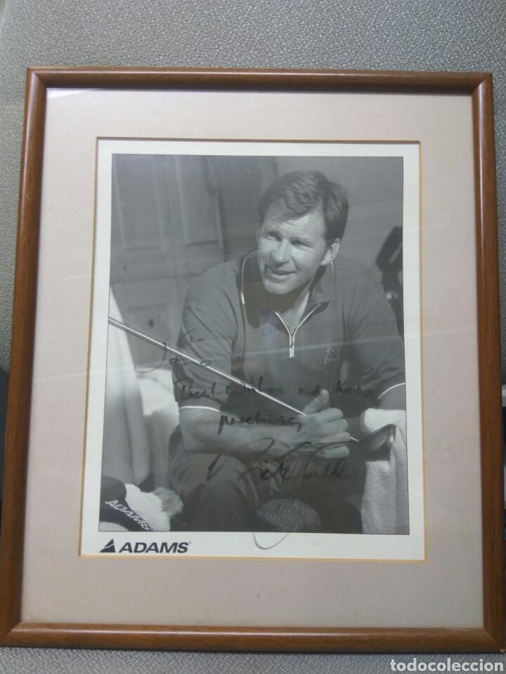 GOLF NICK FALDO AUTOGRAFO ORIGINAL FOTO TARJETA PRODUCTOS ADAMS (Coleccionismo Deportivo - Documentos de Deportes - Autógrafos)
