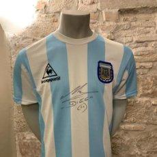Collectionnisme sportif: CAMISETA - ARGENTINA - MARADONA FIRMADA. Lote 185192563
