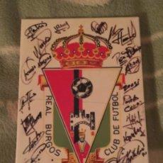Coleccionismo deportivo: AZULEJO REAL BURGOS CF , TEMPORADA FUTBOL 1989-90 , FIRMAS DE JUGADORES. Lote 185287630