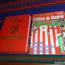Coleccionismo deportivo: CON 4 AUTÓGRAFO EQUIPOS CON HISTORIA ATLÉTICO DE MADRID Y DON BALÓN CENTENARIO EDICIÓN ESPECIAL. BE. Lote 186129111