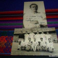 Coleccionismo deportivo: ORIGINALES, FOTO CON AUTÓGRAFO DE ALFREDO DI STÉFANO Y PLANTILLA DEL REAL MADRID. AÑOS 50. RARAS.. Lote 191144912