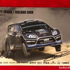 Coleccionismo deportivo: OTT TANAK FORD MSPORT WRC POSTAL AUTOGRAFIADA ORIGINAL. Lote 191824757