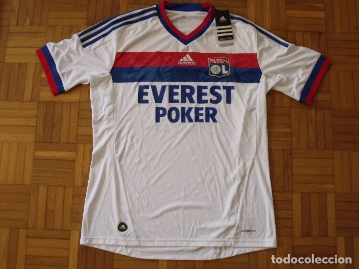 Coleccionismo deportivo: Camiseta Olympique Lyon. Autógrafo, firma Lisandro. Talla L. Nueva con etiquetas. Adidas. 2011-12. - Foto 4 - 194561481