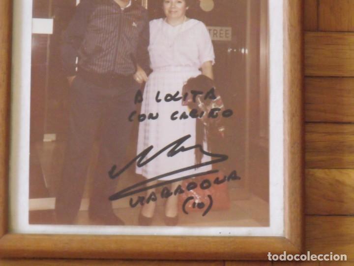 Coleccionismo deportivo: Diego Armando Maradona. Autógrafo original, firma, dedicatoria en fotografía. 18,5x12,5 cm. - Foto 2 - 204003697