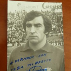 Coleccionismo deportivo: ECHEVARNE REAL CLUB DEPORTIVO ESPAÑOL FOTO ORIGINAL ANTIGUA CON AUTOGRAFO . Lote 195389033