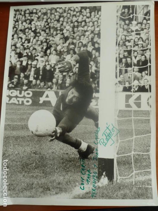 GATO FERNANDEZ REAL CLUB DEPORTIVO ESPAÑOL FOTO ORIGINAL ANTIGUA CON AUTOGRAFO (Coleccionismo Deportivo - Documentos de Deportes - Autógrafos)