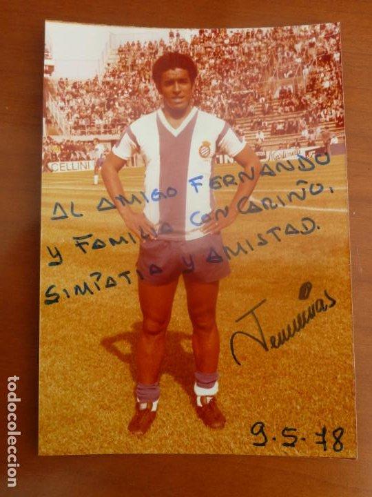 JEREMIAS REAL CLUB DEPORTIVO ESPAÑOL FOTO ORIGINAL ANTIGUA CON AUTOGRAFO (Coleccionismo Deportivo - Documentos de Deportes - Autógrafos)