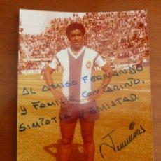Coleccionismo deportivo: JEREMIAS REAL CLUB DEPORTIVO ESPAÑOL FOTO ORIGINAL ANTIGUA CON AUTOGRAFO . Lote 195389273