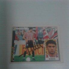 Coleccionismo deportivo: CROMO AUTOGRAFIADO KORINO ATHLETIC CLUB.. Lote 198643392