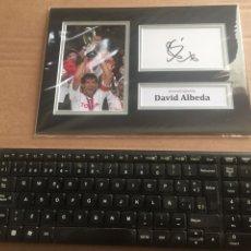 Coleccionismo deportivo: DAVID ALBELDA AUTOGRAFO CON COA. Lote 202523972