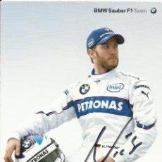 Coleccionismo deportivo: NICK HEIDFELD. AUTÓGRAFO, FIRMA ORIGINAL. BMW SAUBER. 2006. AUTOGRAPH. FÓRMULA 1. AUTOMOVILISMO.. Lote 203339941
