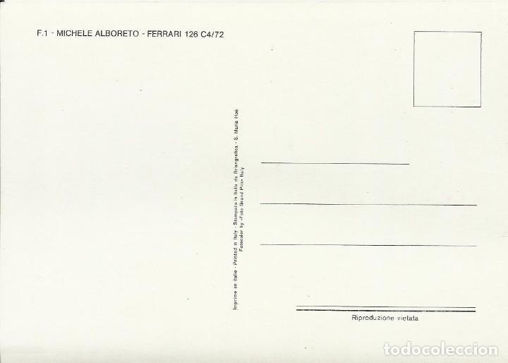 Coleccionismo deportivo: Michele Alboreto. Autógrafo, firma original. Ferrari 126. 1986. Fórmula 1. Automovilismo. Autograph. - Foto 2 - 203340488