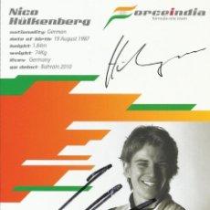 Coleccionismo deportivo: NICO HULKENBERG. AUTÓGRAFO, FIRMA ORIGINAL. FORCE INDIA. 2012. FÓRMULA 1. 15X10 CM. AUTOGRAPH.. Lote 203340941