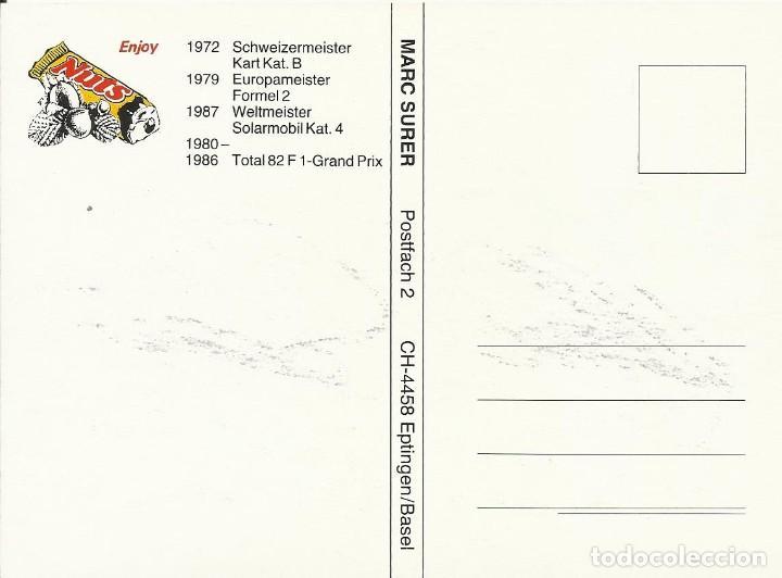 Coleccionismo deportivo: Marc Surer. Autógrafo. Firma original. Autograph. Automovilismo. Fórmula 1. 1986.. - Foto 2 - 205001752